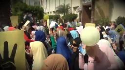 انتفاضة جامعة طنطا ضد العسكر 29.09.2013