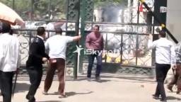 ضابط يطلق 12 رصاصة علي طلاب طب القاهرة