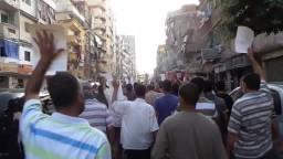 مسيرة مناهضة للانقلاب بالرمل 12 7 2014
