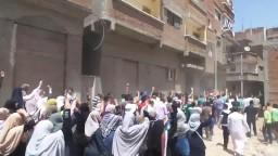مسيرة حاشدة بكفر الدوار تضامناً مع غزة 1_8_2014