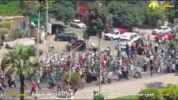 مسيرة صباحية بشارع جامعة الدول العربية