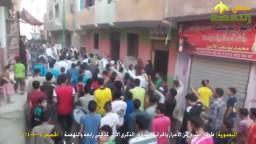 ثوار المنصورية يحتشدون في ذكرى مجزرة رابعة