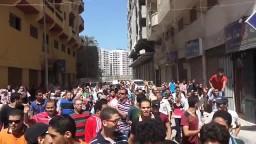 ثوار المنتزة فى مسيرة حاشدة بشارع الملاحة