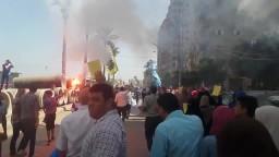 مسيرة حاشدة يشعلها الأولتراس بالمندرة