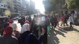 مسيرة طلاب المدارس -امام شارع فضة بالعجمي