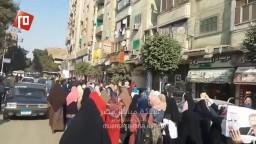 مسيرة حاشدة لاحرار حلوان ضد حكم العسكر