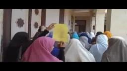 طالبات ضد الانقلاب بكلية الدراسات الاسلامية