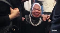 والدة الشهيد اسلام وجدت ذراعه واضلعه مكسورة
