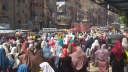 مسيرة حاشدة لثوار الرمل بشارع الترعة