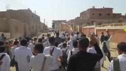 مسيرة طلاب ضد الانقلاب بقرية البرمبل