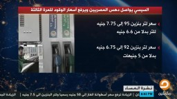 انفوجراف | السيسي يواصل دهس المصريين ويرفع أسعار الوقود للمرة الثالثة