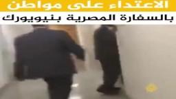 موظفو السفارة المصرية في نيويورك يعتدون على مواطن أثناء متابعته تجديد جواز سفره